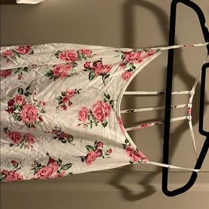 Tops - White pink floral tank